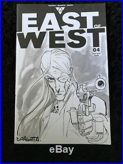 Nick Dragotta Death from East of West original art sketch cover Commission