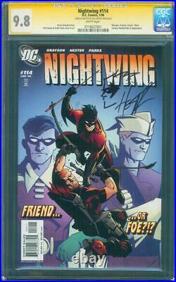 Nightwing 114 CGC SS 9.8 Phil Hester original art sketch Speedy vs Robin Cover