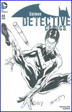 Nightwing Original Art Sketch by Tim Seeley on Detective Comics #44 Blank Cover