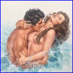 Nude Original Art Pinup Painting Erotic Female Romance Cover Lovers Mills Boon