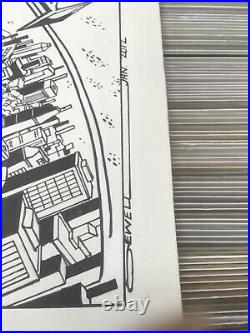 OA Original art John Sewell Superman vs Spider-Man Cover Recreation 22 x 29