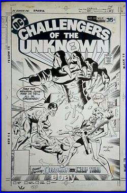 ORIGINAL ART COVER, CHALLENGERS of the UNKNOWN #85, RICH BUCKLER, JACK ABEL 1978
