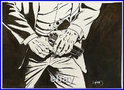 ORIGINAL ART COVER, STRAY BULLETS #29, DAVID LAPHAM (2003, El Capitan) SIGNED