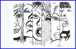 ORIGINAL ART COVER, STRAY BULLETS #34, DAVID LAPHAM (2004, El Capitan) SIGNED