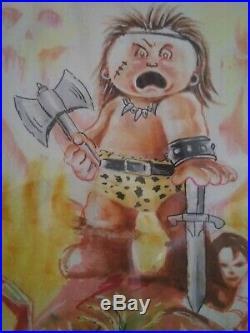 ORIGINAL IDW JEFF ZAPATA GARBAGE PAIL KIDS comic cover ART Mad Mike Conan GPK