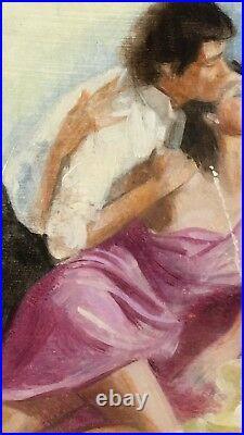 Oil painting original study book cover infidelities by stuart kaufman