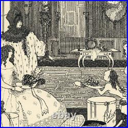Original 1896 line block print by Aubrey Beardsley The Savoy Cover No. 2