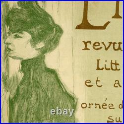 Original 1897 Wood Engraving L'Image Cover by artist Toulouse Lautrec