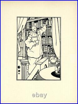 Original 1899 line block print by Aubrey BeardsleyDesign for Cover of Pierrot