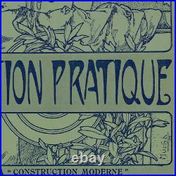 Original 1909 Wood Engraving Alfons Mucha L'Habitation Pratique Cover