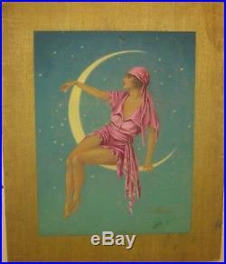 Original'22 THEATER MAGAZINE Cover Illustration ART DECO Woman Reaching STARS