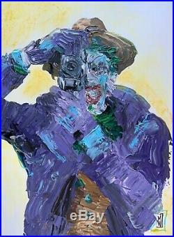 Original Abstract Joker Killing Joke Cover Tribute Painting Comic Wall Art 16