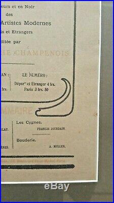 Original Alphonse Mucha L'Estampe Moderne 1897 No. 18 Front & Back Cover Framed