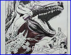 Original Art Cover, Doomsday Squad #7, Gil Kane 1987 Fantagraphics, Dino Cover