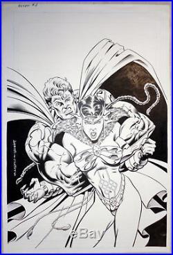 Original Art Cover, Elven #1, Aaron Lopresti, G. Martin, 1995, Malibu Ultraverse