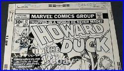 Original Art Cover, Gene Colan, Tom Palmer, Howard The Duck #17, Marvel, 1977