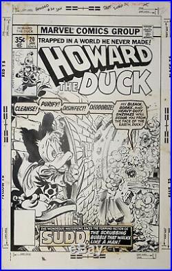 Original Art Cover, Gene Colan, Tom Palmer, Howard The Duck #20, Marvel, 1978