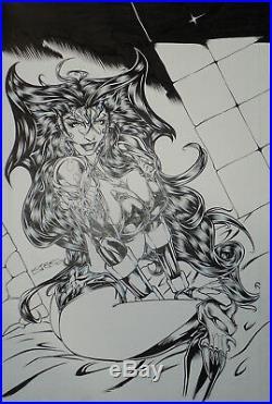 Original Art Cover, Vamperotica Illustrated #2, Kirk Lindo 2000 Brainstorm