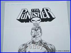 Original Art Punisher Cover Study 11 X 17 RON WILSON art