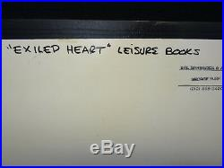 Original Book Cover Artwork by G. A. Bush Exiled Heart Leisure Books