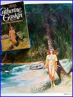 Original Comic Art Cover Book Woman bikini published, Josep Maria Miralles 1937