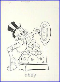 Original Comic Art Cover, Carl Barks, Uncle Scrooge #20 February, 1958 Dell Rare