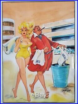 Original Cover Art Bill Wenzel Humorama Cartoon Illustration Comic Paperback Gga