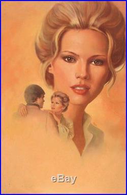 Original Franco Accornero Pin Up Illustration Romance Cover Art Painting Pinup