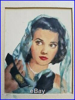 Original Illustration Art 1952 True Detective Pulp Cover Magazine Prelim Noir
