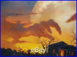 Original Jim Warren Oil Painting Horror Book / Magazine Cover Art