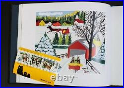 Original Maud Lewis Painting Covered Bridge With Sleigh- 1966 14x12in