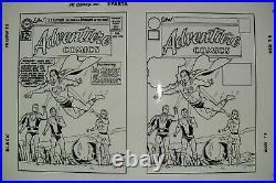 Original Production Art ADVENTURE COMICS #293 cover, CURT SWAN art, 11x17