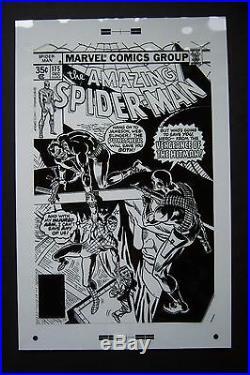Original Production Art AMAZING SPIDER-MAN #175 cover, ROSS ANDRU art, Punisher
