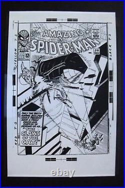 Original Production Art AMAZING SPIDER-MAN #30 cover, STEVE DITKO art