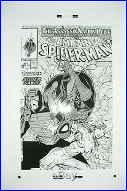 Original Production Art AMAZING SPIDER-MAN #321 cover, TODD MCFARLANE art