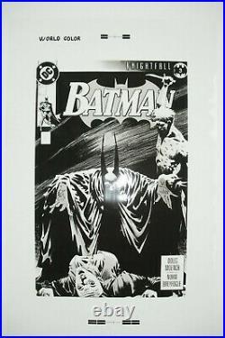 Original Production Art BATMAN #493 cover, KELLY JONES art, 11x17