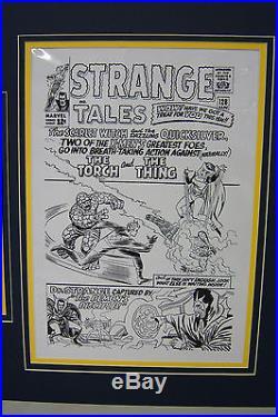 Original Production Art Cel STEVE DITKO Strange Tales #128 matted withcover print