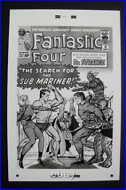 Original Production Art FANTASTIC FOUR #27 cover, JACK KIRBY art, Sub-Mariner