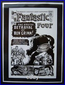 Original Production Art FANTASTIC FOUR #41 cover, JACK KIRBY art