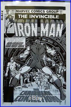 Original Production Art IRON MAN #141 cover & splash page, BOB LAYTON art