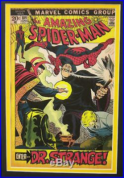 Original Production Art JOHN ROMITA Amazing Spider-Man #109 matted withcover print