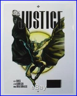 Original Production Art JUSTICE #2 cover, ALEX ROSS art, 2nd printing, Batman