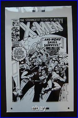 Original Production Art X-MEN #70 cover, JACK KIRBY art