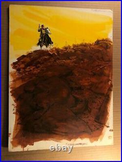 Original Published Western Pulp Paperback Cover Illustration Art Painting'71