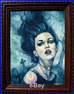 Original Pulp Goth Illustration Horror Gothic Cover Style Art Painting Halloween