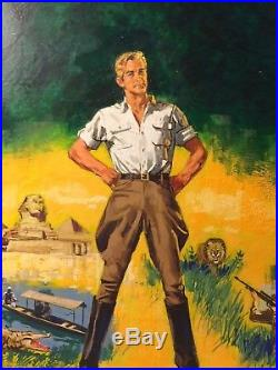 Original Pulp Illustration Art Published Book Cover The Royal Road to Romance