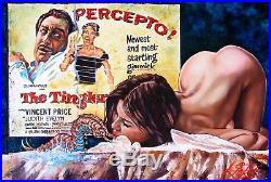 Original R. Melton Pulp Horror Pin Up Illustration Cover Art Painting Tingler