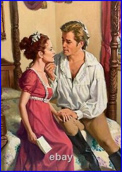 Original Robert Berran Illustration Oil on Canvas-Signet Romance Novel Cover Art