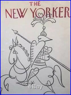 Original SIGNED New Yorker Cover Illustration Art, by Oscar Berger 1971