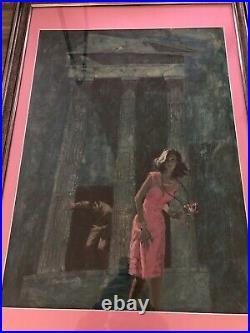 Original Vintage Painting Pulp Harry Bennett Cover Art Decision At Delphi